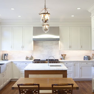 Enclosed Kitchen Traditional U Shaped Idea In San Francisco With Shaker Cabinets
