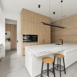 Design ideas for a scandinavian kitchen in Sydney.