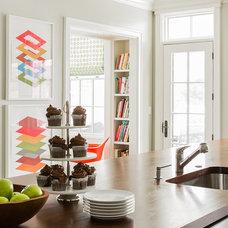 Transitional Kitchen by Terrat Elms Interior Design