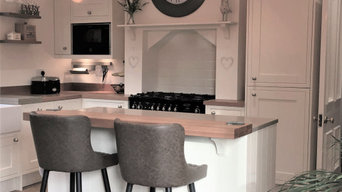 James James New England Ivory with Chicstone & Timber Worktops