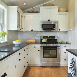 White Cabinets And Dark Countertop Ideas Photos Houzz - Images of kitchens with white cabinets