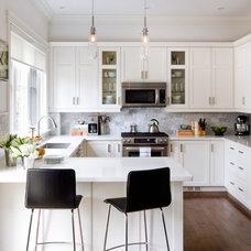 Transitional Kitchen by Jane Lockhart Interior Design