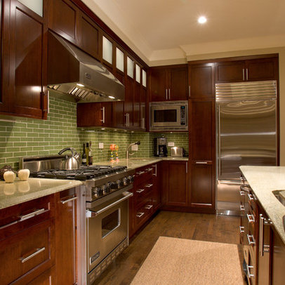 Pictures Modern Kitchens on Chicago Home Dark Wood Cabinets Design Ideas  Pictures  Remodel And