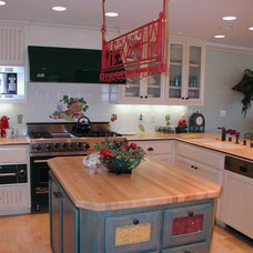 Eclectic Kitchen by Janzel Kelly Interiors A.S.I.D.