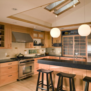 Japanese Style Kitchen with Skylights