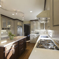 Transitional Kitchen by De Anza Interior
