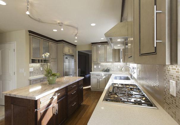 Transitional Kitchen by De Anza Interior