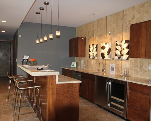 Kitchen bar designs houzz for Bar in kitchen ideas