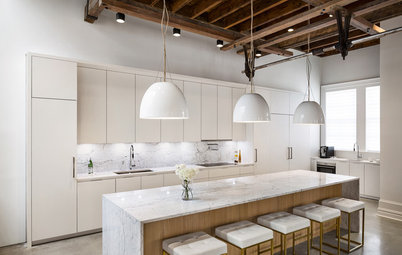 Kitchen of the Week: Industrial Meets Sleek Italian Style