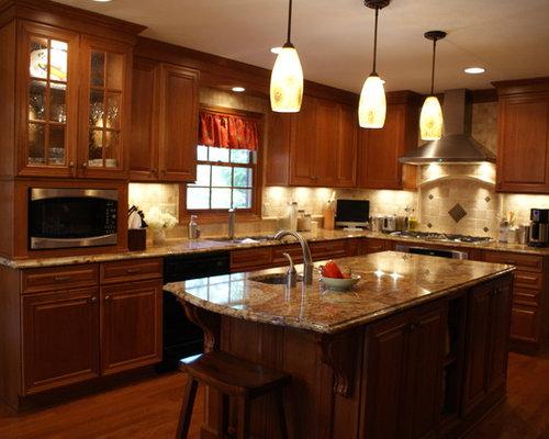 Tumbled Stone Kitchen Backsplash