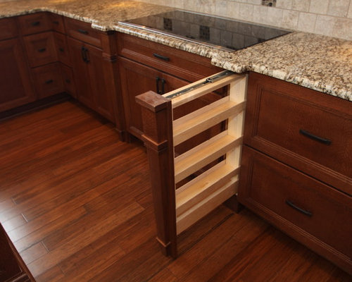 Kitchen design ideas renovations amp photos with bamboo flooring and a