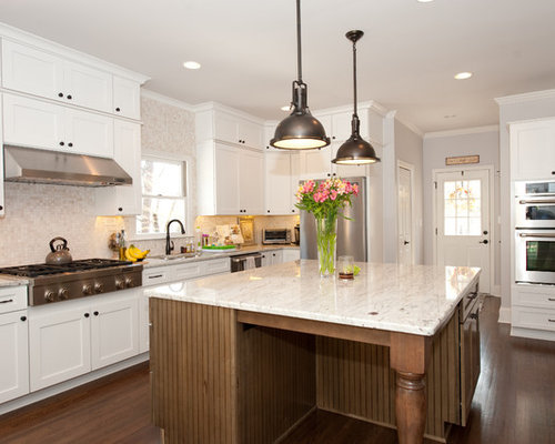 Updated Kitchens With White Appliances
