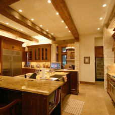 Rustic Kitchen by John Lively & Associates