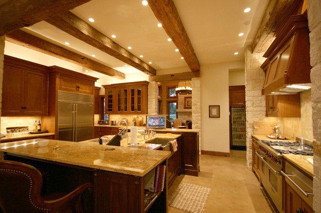 Rustic Kitchen by John Lively & Associates