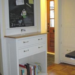 Traditional Message Center Kitchen Design Ideas Remodels Photos