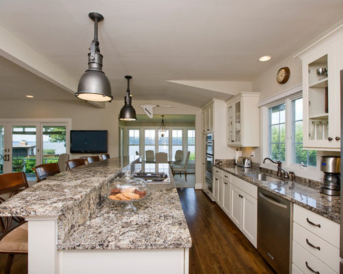 Bi Level Island Houzz