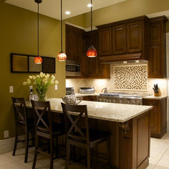 mediterranean kitchen by Joni Spear Interior Design