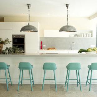 Cuisine parallèle avec un îlot central : Photos et idées déco de ...