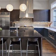 Eclectic Kitchen by Buckingham Interiors + Design LLC