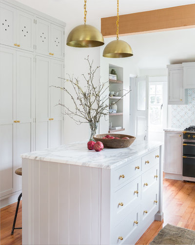 Transitional Kitchen by Heidi Caillier Design