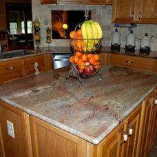 Traditional Kitchen by TZ Granite & Materials LLC