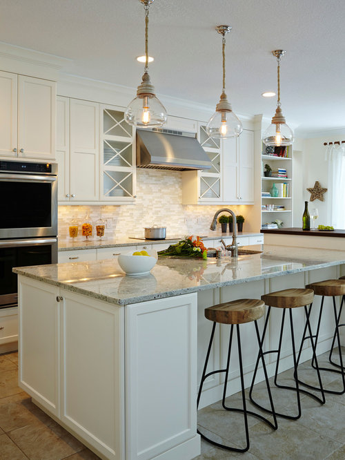Light backsplash ideas pictures remodel and decor for Normal kitchen design