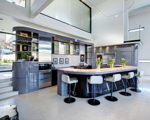 example of a minimalist kitchen design in atlanta with stainless steel appliances art deco kitchen   houzz  rh   houzz com