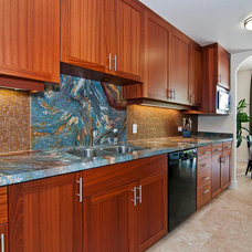 Contemporary Kitchen by Liquorish Stone and Tile Work