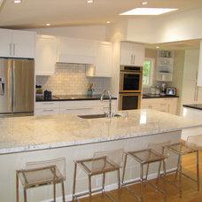 Transitional Kitchen by Jennifer Louise Interiors