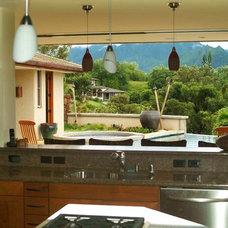 Tropical Kitchen by Daniel Moran Architect