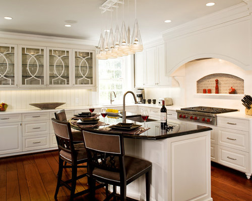 Example Of A Large Transitional L Shaped Open Concept Kitchen Design In DC  Metro With Part 23