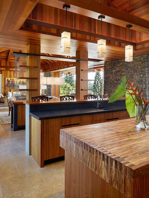 Large World Inspired Kitchen Design Ideas Renovations Photos