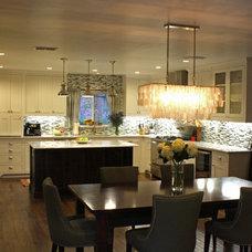 Transitional Kitchen by Kara Weik