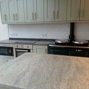 Kashmir White Granite Inspiration For A Contemporary Kitchen Remodel In Manchester