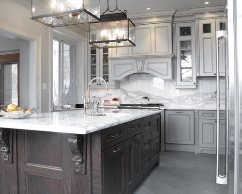 Gray And Black Kitchen | Houzz