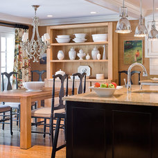 Transitional Kitchen by Michael J. Lee Photography