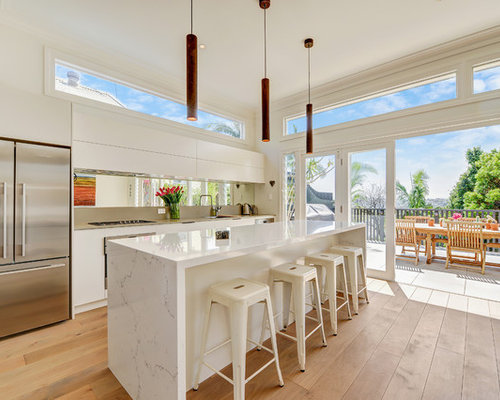 Inspiration For A Mid Sized Contemporary Galley Open Plan Kitchen In Sydney  With A Drop