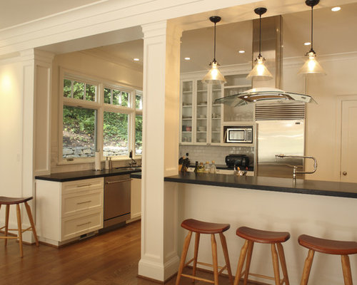 Contemporary kitchen idea in Portland with stainless steel appliances