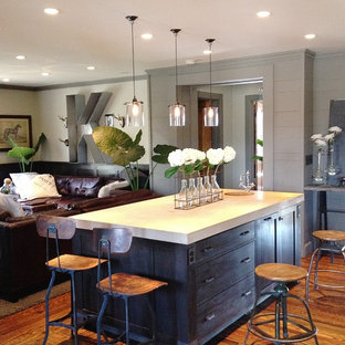 Trendy open concept kitchen photo in Columbus
