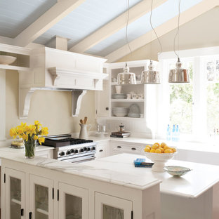 Inspiration For A Mid Sized Beach Style Galley Open Concept Kitchen Remodel In San Francisco Save Photo Kelly Moore Paints