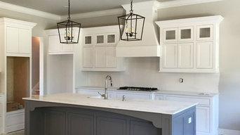 "Kelly Plantation ""white & gray"" Shaker style Cabinet Install"