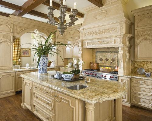 Mediterranean Kitchen Remodeling   Kitchen   Mediterranean Dark Wood Floor  And Brown Floor Kitchen Idea In