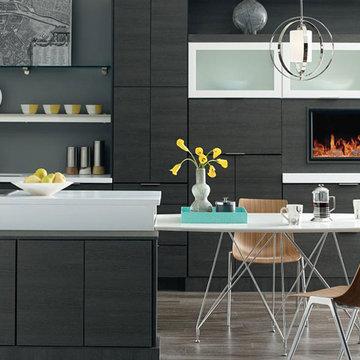 Kemper Cabinets: Contemporary Laminate Kitchen Cabinets