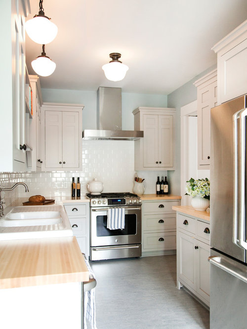 L Shaped KitchenDiner Design Ideas Renovations Amp Photos With Lino Flooring