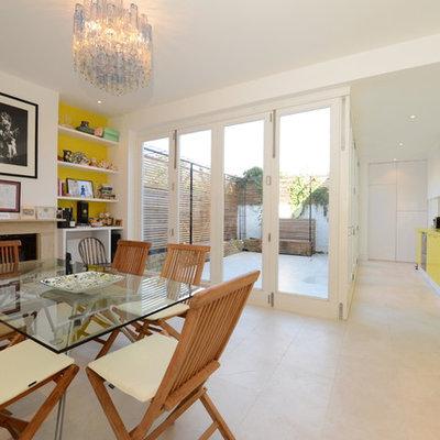 Trendy single-wall kitchen photo in London