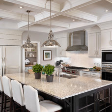 Transitional Kitchen by Perry Signature Homes Inc.