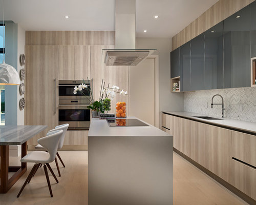 L Shaped Kitchen Design. Mid sized contemporary eat in kitchen pictures  trendy l Top 20 L Shaped Kitchen Ideas Decoration Pictures Houzz