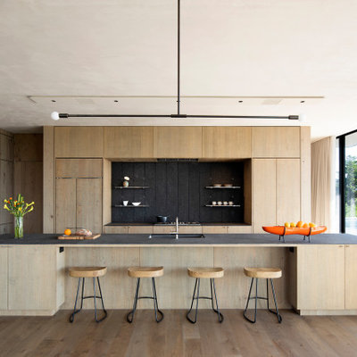 Inspiration for a modern kitchen remodel in New York