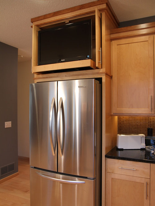 kitchen cabinets around refrigerator above refrigerator houzz 5911