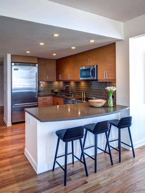 Small modern kitchen design ideas remodel pictures houzz Modern kitchen design ideas houzz